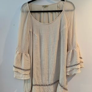 oh Gussie! Tops - Oh Gussie! Crinkly Crepe Muslin Tunic 2X